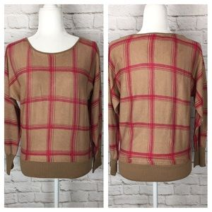 NY & Co | Checkered Sweater Tan/Pink
